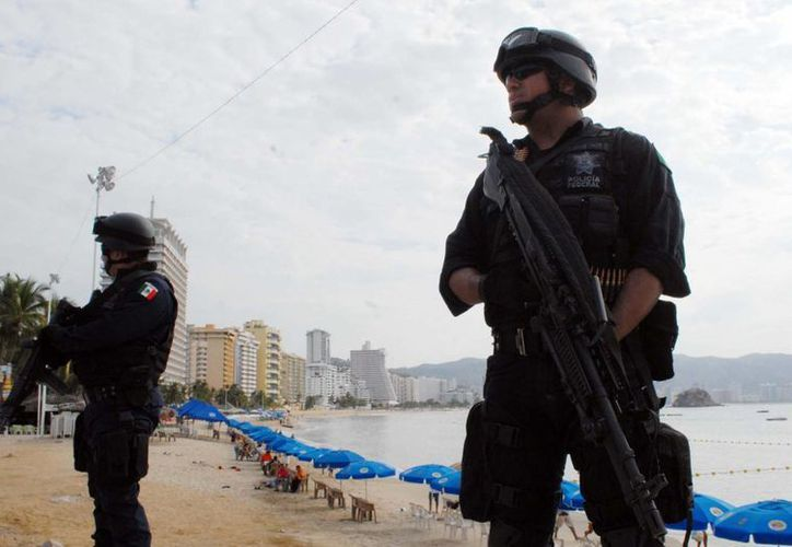 Fuerte despliegue de seguridad en el puerto de Acapulco. (Notimex)