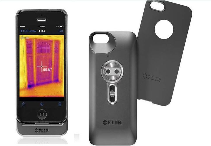 Hay que advertir que el Flir One sólo funciona con los modelos 5 o 5s de iPhone y que la cámara tiene una resolución de apenas 80 x 60 pixeles. (AP)