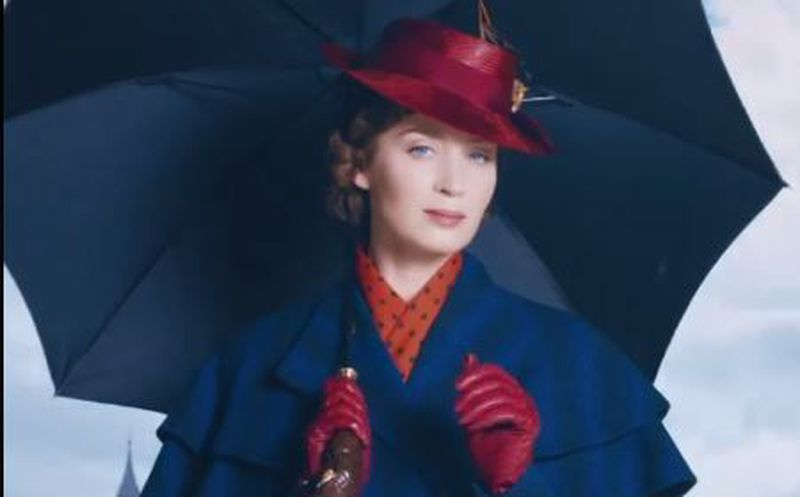 Emily Blunt en acción en este nuevo poster animado — Mary Poppins Returns