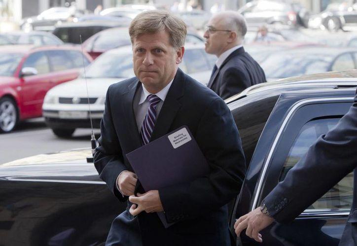 La 'visita' el embajador de EU en Rusia, Michael McFaul, al Ministerio de Relaciones Exteriores, duró cerca de media hora. (Agencias)