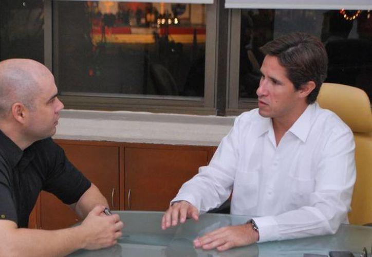 Se reunió el alcalde con el titular de Seguridad Pública. (Cortesía/SIPSE)