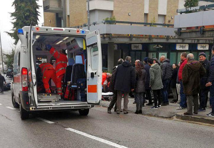 Tras el tiroteo, el alcalde de Macerata, Roman Carancini, declaró el estado de excepción en la ciudad. (AP)
