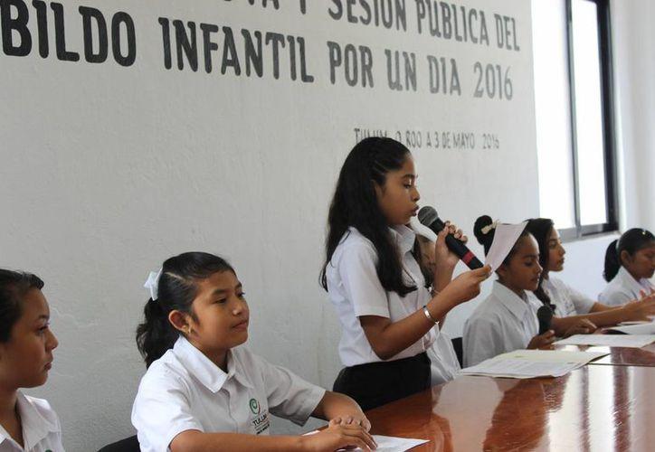 El Cabildo Infantil aprobó propuestas para la conservación de recursos naturales en Tulum. (Sara Cauich/SIPSE)