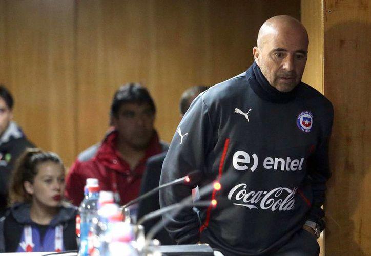 Jorge Sampaoli ya no es más técnico de la selección chilena. El argentino llegó a un acuerdo con la   Asociación Nacional de Futbol Profesional para no pagar su 'cláusula de salida'. (Archivo Notimex)