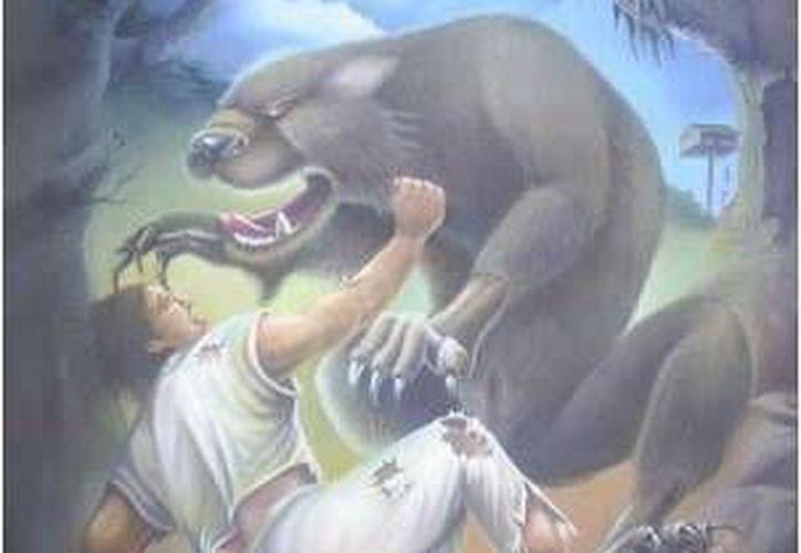 """Existió una mujer que por defender a su bebé se enfrentó y venció  a un monstruo conocido como """"Boob"""", producto de una maldición del Ak'ab Naj. (SIPSE)"""