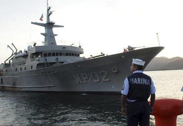 """El buque  """"Zapoteco"""" realizar viaje de prácticas del 9 de junio al 14 de julio de 2015 y arribará a los puertos de San Diego y Long Beach, California, EU, (Foto: semar.gob.mx)"""