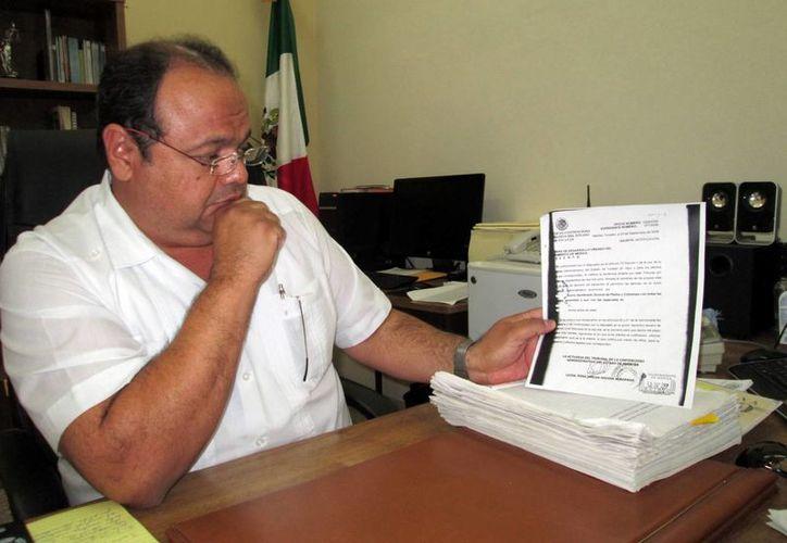 Miguel Diego Barbosa Lara, magistrado presidente del Tribunal de lo Contencioso Administrativo. (Martha Chan/SIPSE)
