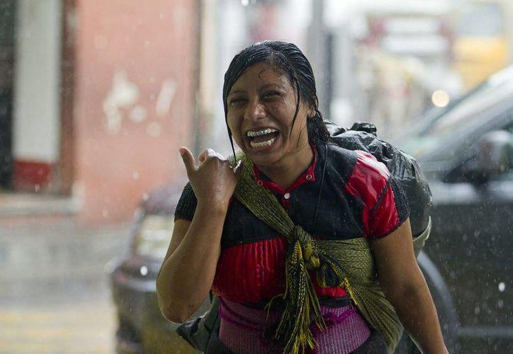 En Yucatán se registran intensas lluvias debido a la interacción de varios fenómenos. (Notimex)