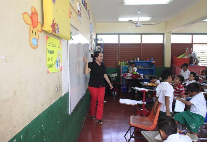 Este año alrededor de mil 500 maestros frente a grupo serán sometidos a evaluación de permanencia. (Harold Alcocer/SIPSE)
