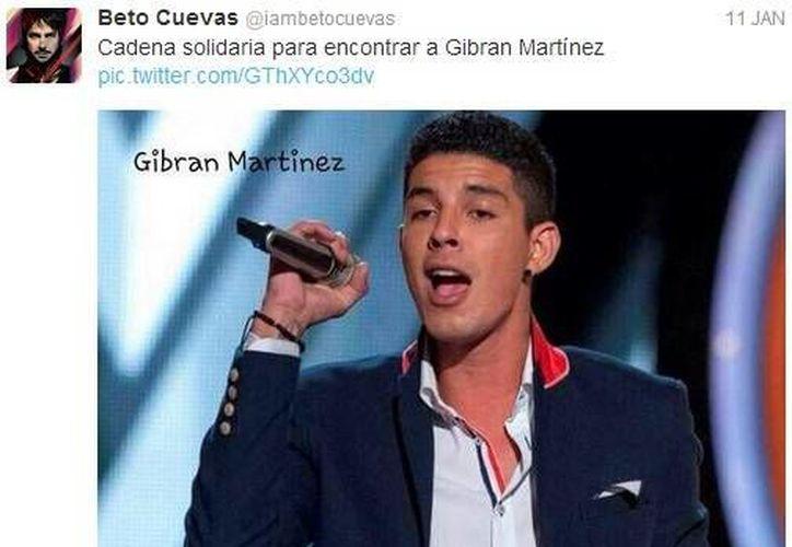 El cantante Beto Cuevas pidió en Facebook oraciones tras el secuestro de Gibrán David Martiz. (Facebook)