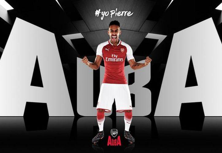 El Arsenal habría pagado por Aubameyang 56 millones de libras. (Twitter/Arsenal)
