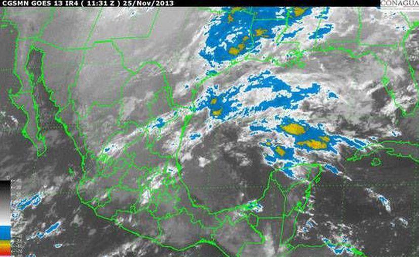 El clima para Quintana Roo será nublado con lluvias ligeras. (Conagua)