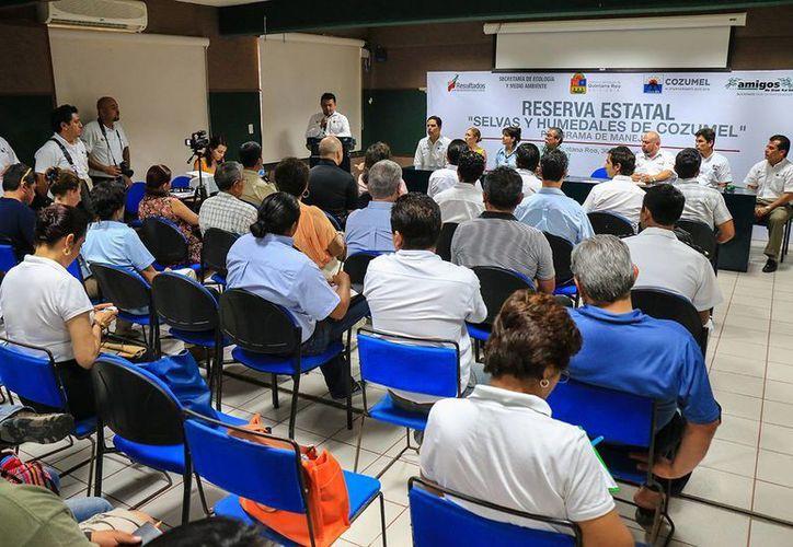 """Ayer iniciaron formalmente los trabajos para la creación del Programa de Manejo de la Reserva Estatal """"Selvas y Humedales de Cozumel"""".  (Redacción/SIPSE)"""