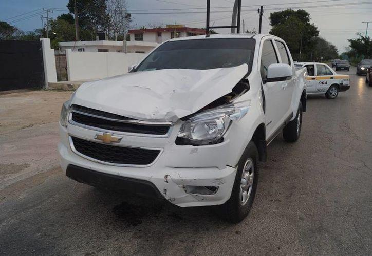 El hoy occiso fue embestido por una camioneta color blanco, con placas de la Secretaría de Seguridad Pública. (Ángel Castilla/SIPSE)