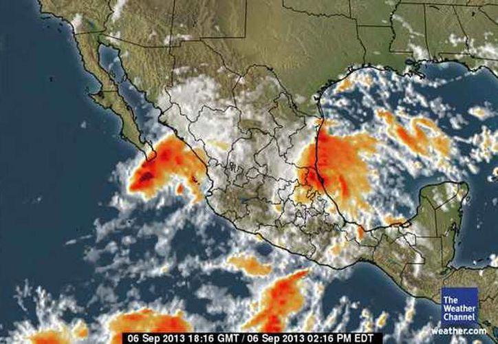 Decretan alerta amarilla en BCS y alerta azul en Sonora por la tormenta tropical. (weather.com)