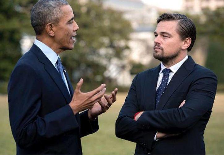 Barack Obama y Leonardo DiCaprio son dos de las figuras públicas que mas abogan a favor del medio ambiente. (Instagram)