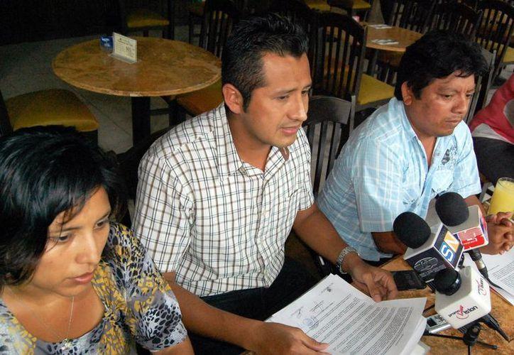 Los maestros dicen que el SNTE se adjudicó el pacto con el Gobierno. (Wilbert Argüelles/SIPSE)
