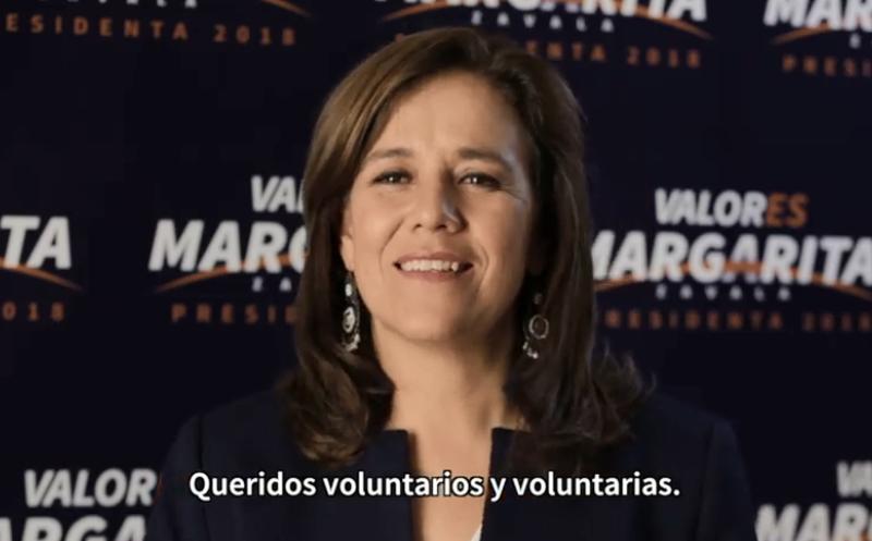 La ex candidata a la Presidencia del País hizo alusión a que ella es la primera mujer que contiende por la vía independiente para este cargo. (Foto: Captura de pantalla).