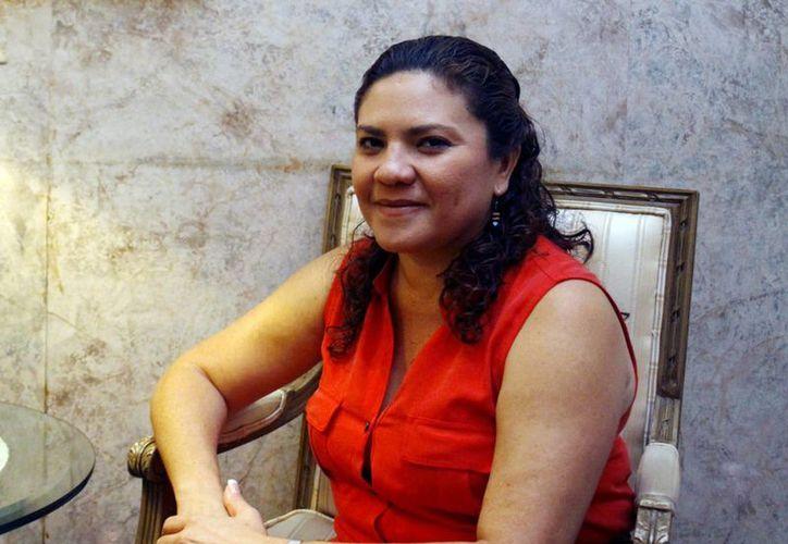 Imagen de la senadora panista por Yucatán Rosa Adriana Díaz Lizama, quien pide la renuncia de Hugo Sánchez Camargo, presidente estatal del PAN. (Milenio Novedades)