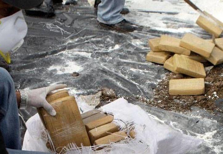Cocaína que estaba a punto de ser enviada a México, fue decomisada en Ecuador. (Foto de contexto)