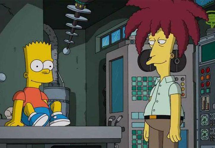 Escena donde Bob Patiño asesina a Bart, esto en el capítulo especial de 'Halloween, Treehouse of Horror' que Los Simpsons estrenarán el próximo domingo en Estados Unidos. (Fox)
