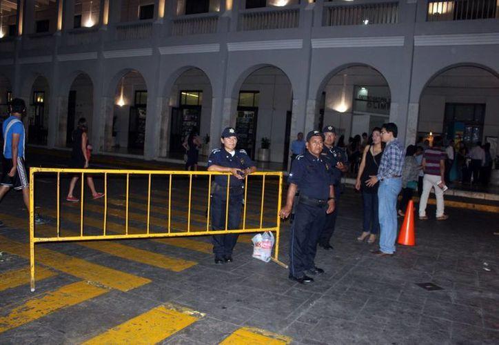 El cierre de calles en el Centro de Mérida comenzará a las 05:00 horas del domingo. (Milenio Novedades)