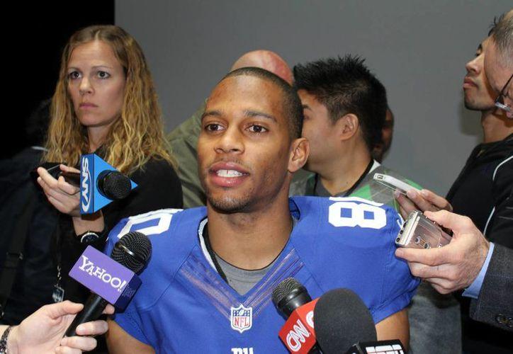 """Los Giants hará """"todo lo posible"""" por quedarse con el receptor de origen puertorriqueño Víctor Cruz en su equipo. (EFE)"""