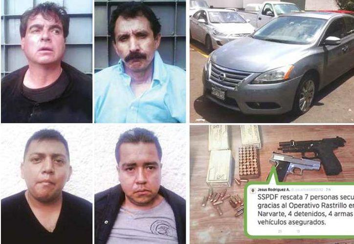 Rómulo Padilla Morales, de camiseta azul, inició un enfrentamiento que terminó con su captura y la de otras tres personas. (Excélsior)