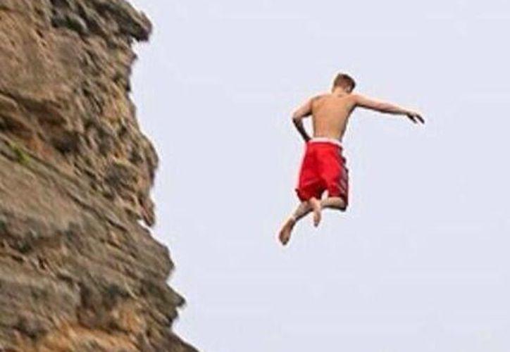 Bieber publicó en su cuenta de Twitter esta foto de su  hazaña. (@justinbieber)