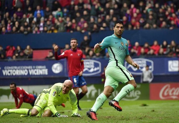 Durante el año 2016, Luis Suárez conquistó el 'Pichichi' de la Liga de Futbol de España, con el Barcelona.(Alvaro Barrientos/AP)