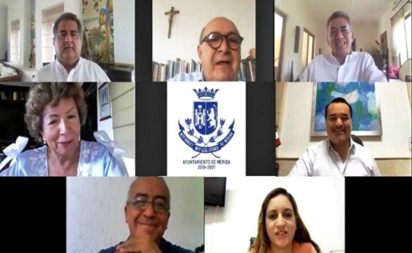 Los ex ediles Ana Rosa Payán, Luis Correa,  Xavier Abreu, Manuel Fuentes y César Bojórquez dieron su opinión sobre cómo transitar a la reactivación económica. (Novedades Yucatán)