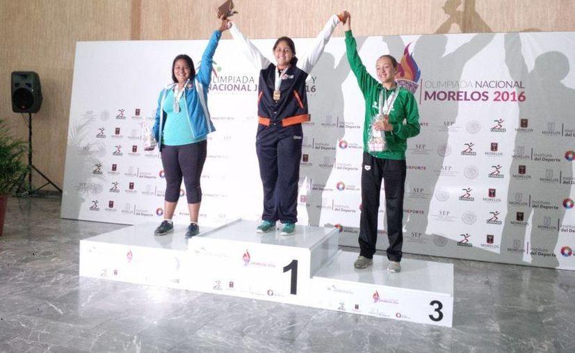 Ana Laura Vázquez Saucedo se subió en lo más alto del podio. (Raúl Caballero/SIPSE)