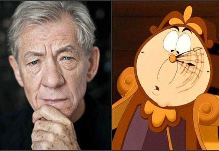 Ian McKellen, de 75 años, interpretará al Reloj Din Dong en la nueva versión de Disney de 'La Bella y la Bestia'. (Milenio Digital)