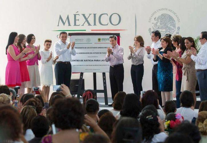 Inauguración del Centro de Justicia para la Mujer en Yucatán. (Facebook)