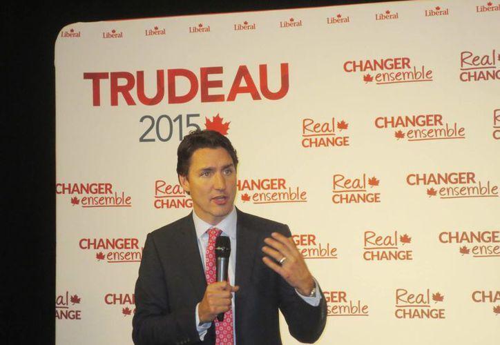 Justin Trudeau contiende este 19 de octubre en las elecciones canadienses para Primer Ministro. (Notimex)