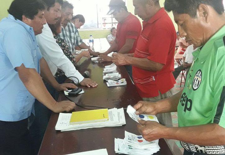 Aspecto de las elecciones que favoreció a la planilla verde. (Raúl Balam/SIPSE)
