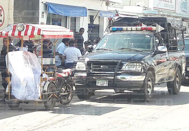Los hechos se presentaron esta mañana en las calles de Ticul. (SIPSE)