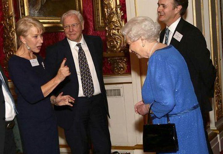 En la recepción la actriz Helen Mirren recitó varios versos de la obra teatral La Tempestad de William Shakespeare. (Agencias)