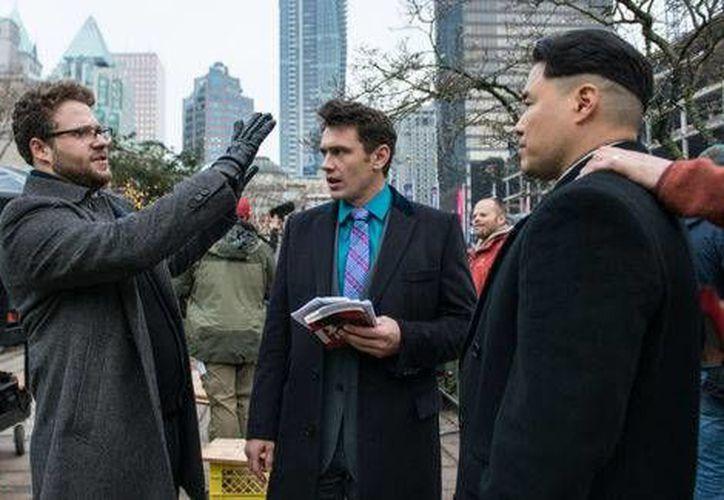 James Franco y Seth Rogen protagonizan The Interview, una parodia sobre un complot norteamericano para asesinar al líder norcoreano Kim Jung. (Sony Pictures)