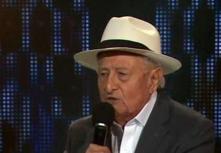 William Gómez Moreno, de 83 años de edad, se ganó el corazón del público y los jueces de 'México tiene talento' durante las nueve semanas del programa de televisión. (SIPSE)