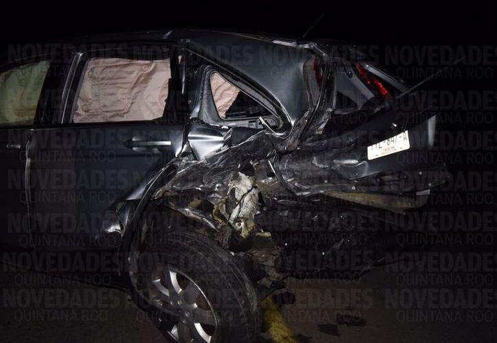 El accidente ocurrió en la comunidad de La Presumida. (Fotos: Alejandro Poot)