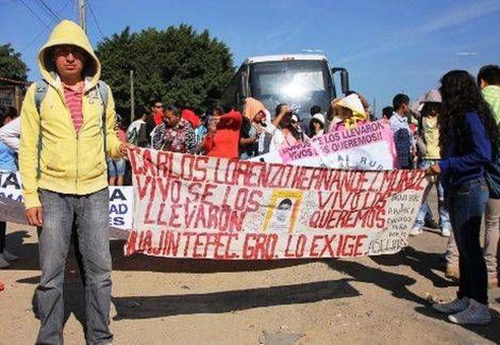 La caravana por Ayotzinapa espera llegar el 20 de noviembre a la Ciudad de México. (Milenio)