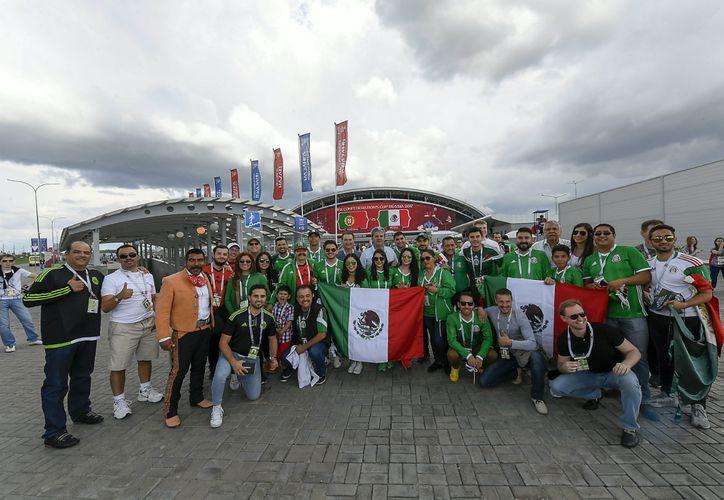 Cerca de cien yucatecos viajarán al Mundial de Rusia, el siguiente mes. (Twitter)