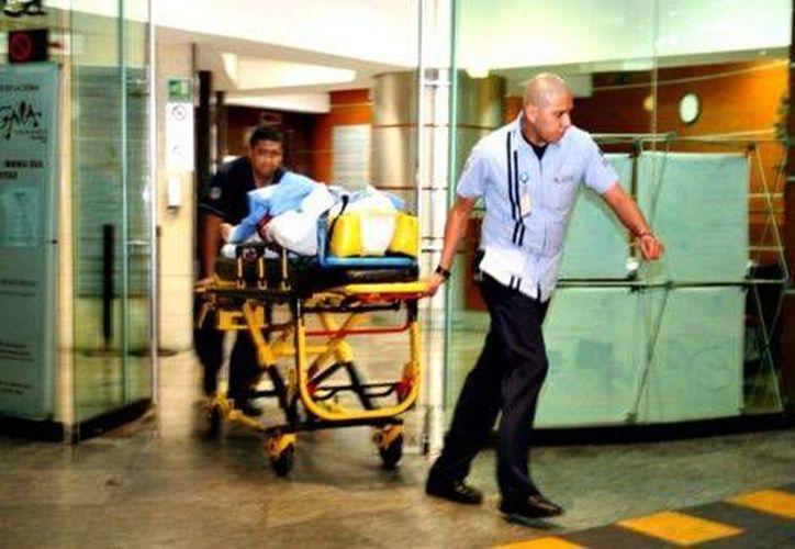 El diputado federal Ramón Montalvo, baleado esta madrugada, fue atendido en el Hospital Polanco de Ixtapaluca. (Cuartoscuro)