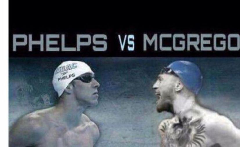 Se difunde en redes el reto de nado que lanzó Phelps a McGregor. (Foto: Vanguardia MX)