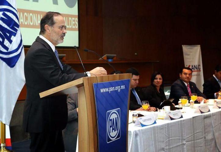 La última visita de Gustavo Madero a la entidad fue  como parte de su campaña para seguir al frente de la presidencia del PAN. (Milenio Novedades)