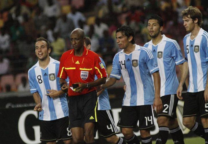 Chaibou con la Selección Argentina el 1 de junio de 2011. (AP/Foto de archivo)