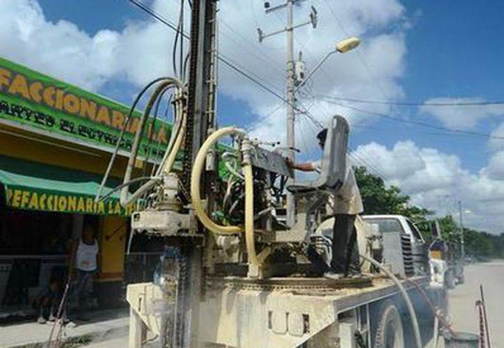 Se invirtieron 10 millones 700 mil pesos, para construir los pozos en Solidaridad. (Agencia)
