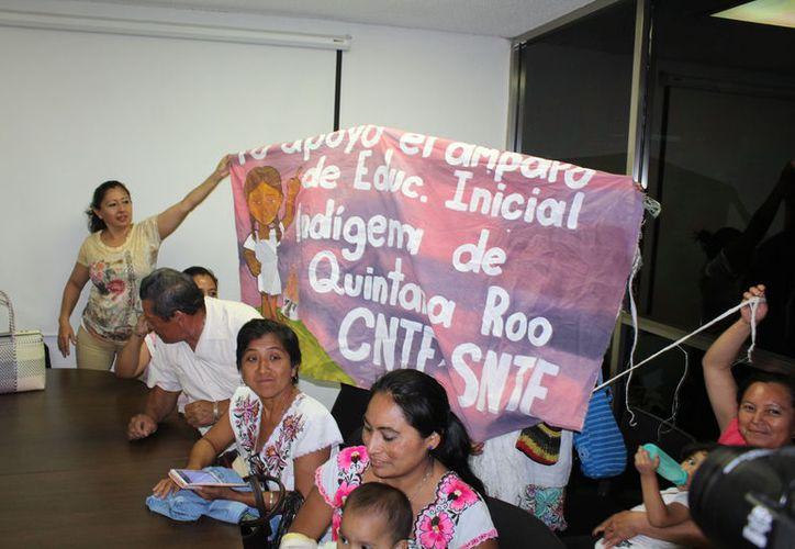 Los maestros pertenecen a la Coordinadora Nacional de Trabajadores de la Educación. (Joel Zamora/SIPSE)