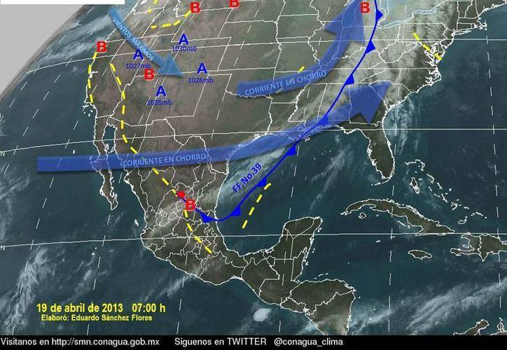 Soplarán vientos del sureste de 20 a 40 km/h. (Cortesía/SIPSE)